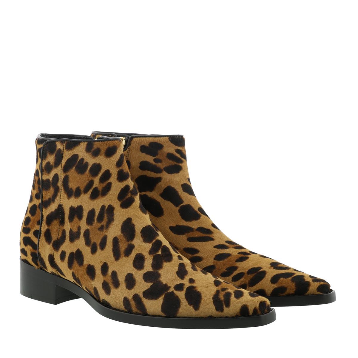 Dolce&Gabbana Boots - Animal Print Ankle Boots Leather Leo - in braun - für Damen