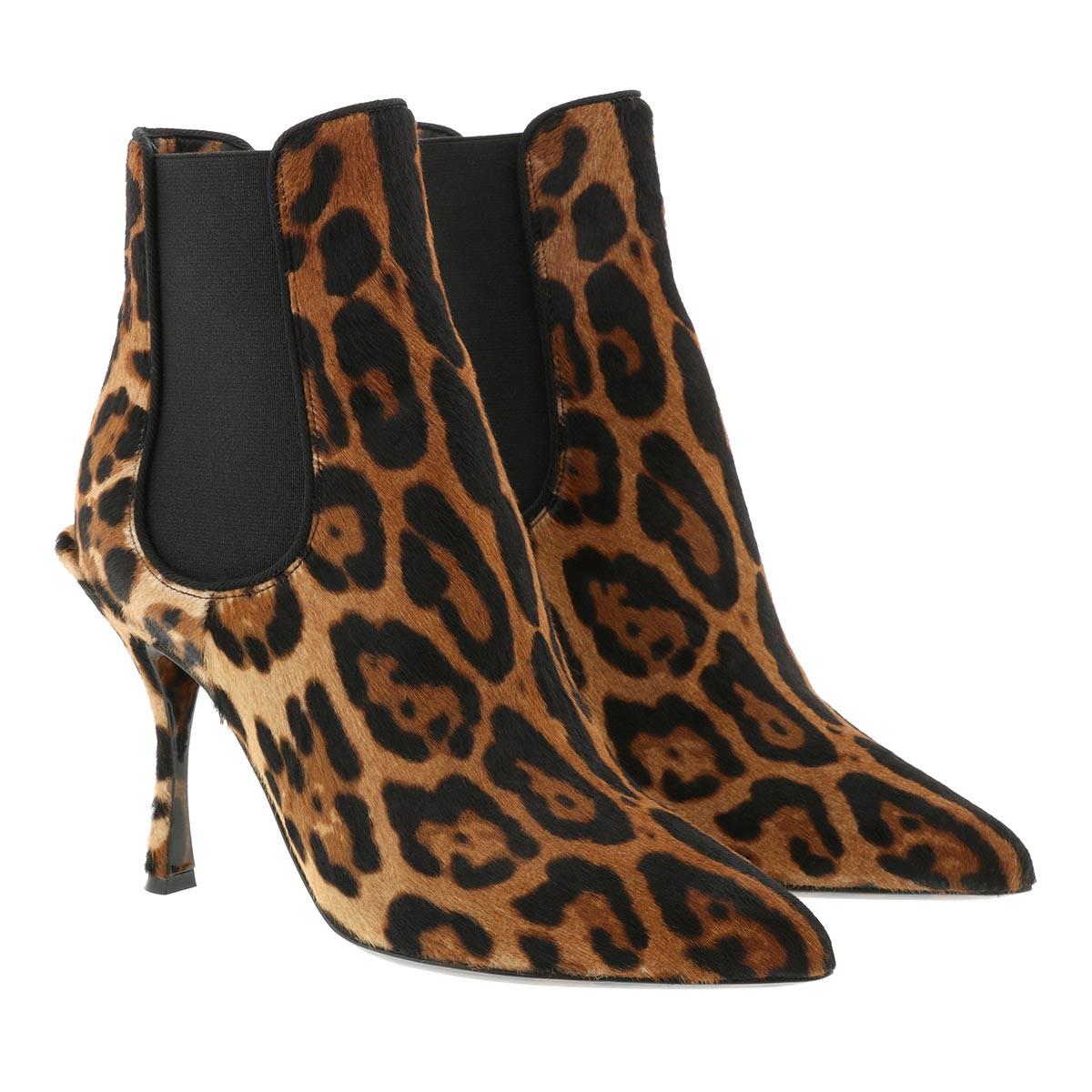 Dolce&Gabbana Boots - Leopard Booties Brown - in braun - für Damen