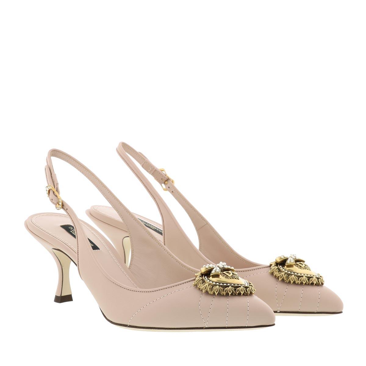 Dolce&Gabbana Pumps - Slingback Pumps Devotion Lamb Skin Cipria - in rosa - für Damen