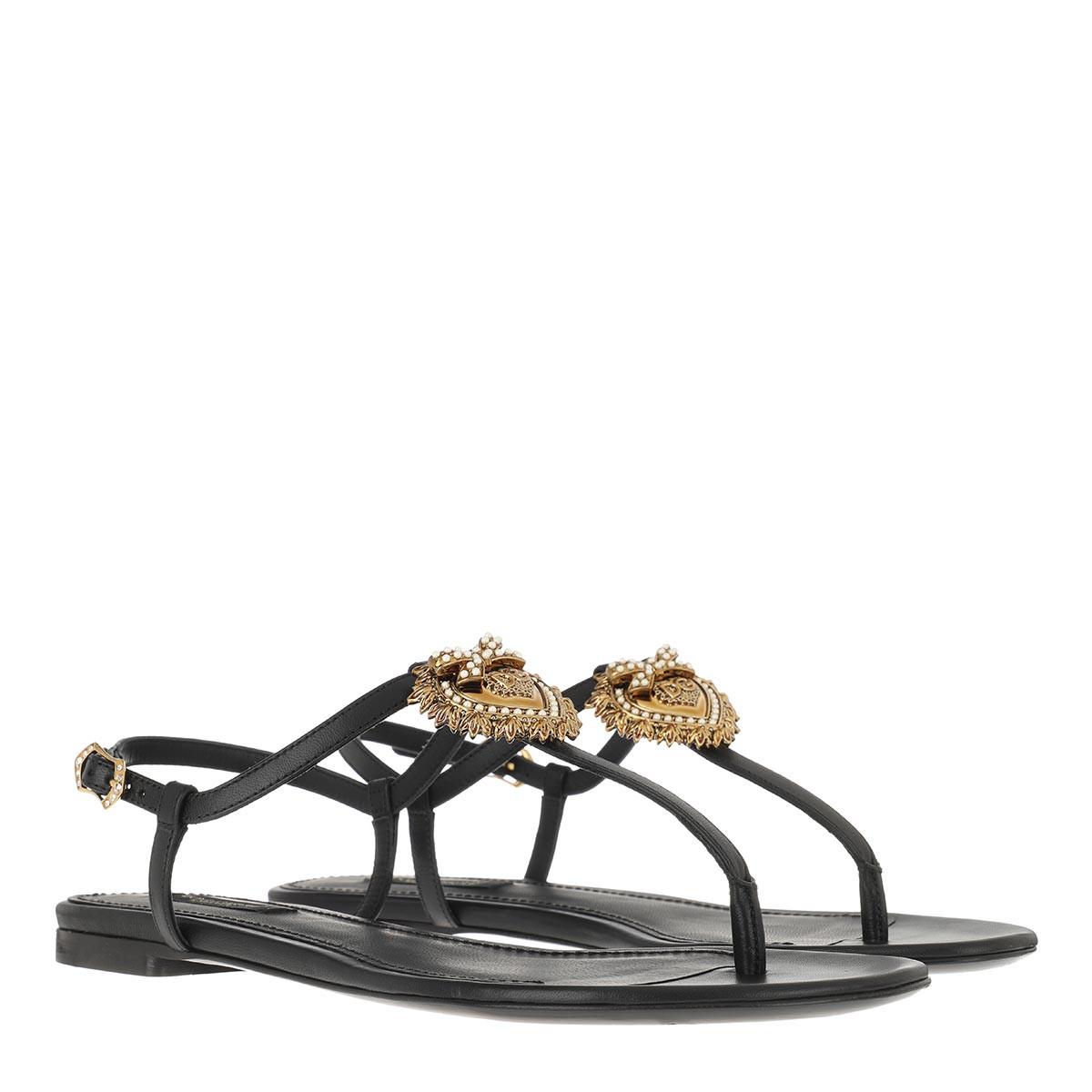 Dolce&Gabbana Sandalen - Thong Sandals Black - in schwarz - für Damen