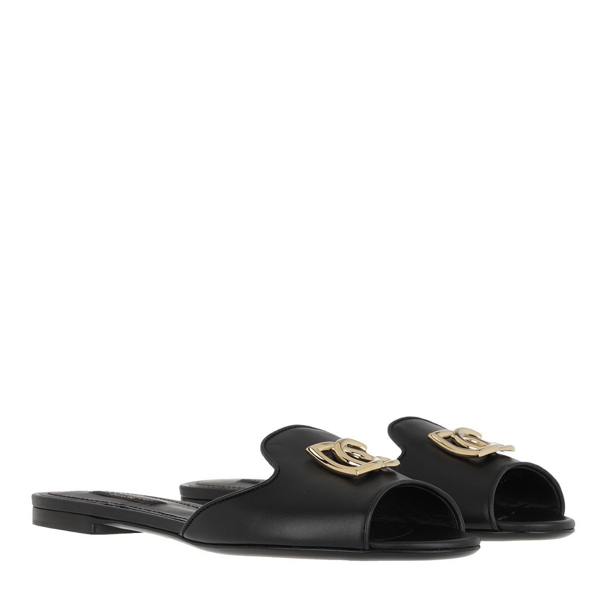 Dolce&Gabbana Schuhe - Bianca Slides Black - in schwarz - für Damen