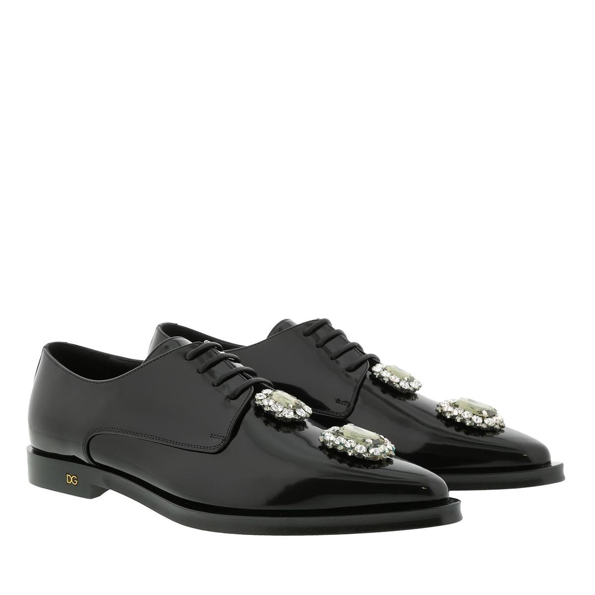 Dolce&Gabbana Schuhe - Fume Derbie Black - in schwarz - für Damen