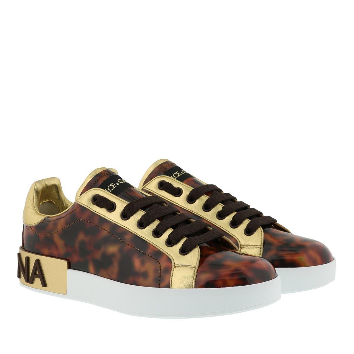 Dolce&Gabbana Sneakers - Portofino Sneaker Patent Leather Marrone - in braun - für Damen