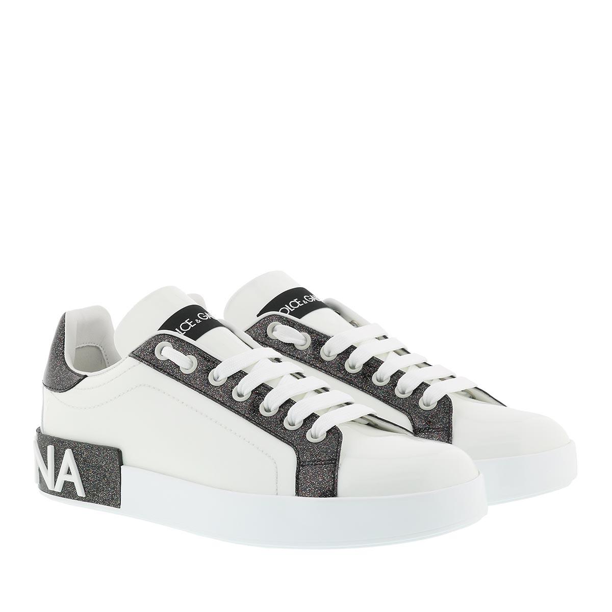Dolce&Gabbana Sneakers - Portofino Sneakers White/Black - in weiß - für Damen