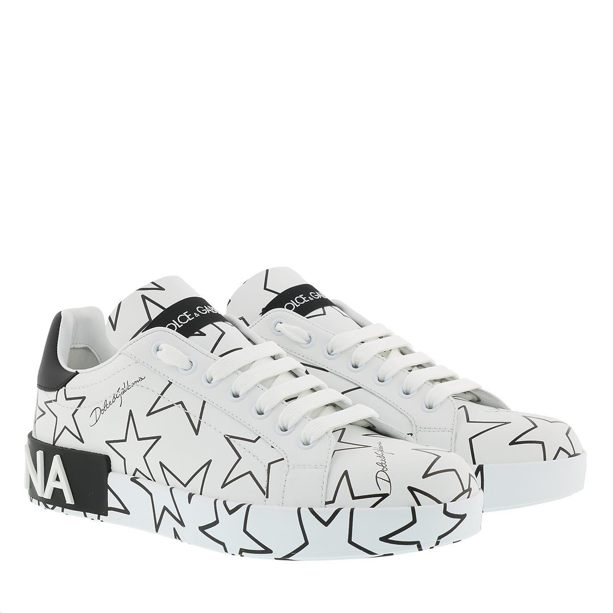 Dolce&Gabbana Sneakers - Stars Sneakers Leather White - in weiß - für Damen
