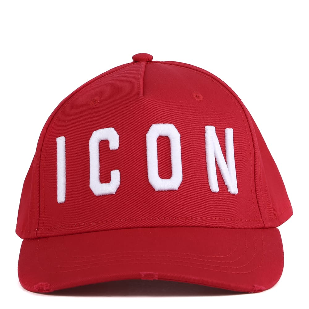 Dsquared2 Red Icon Cotton Baseball Cap