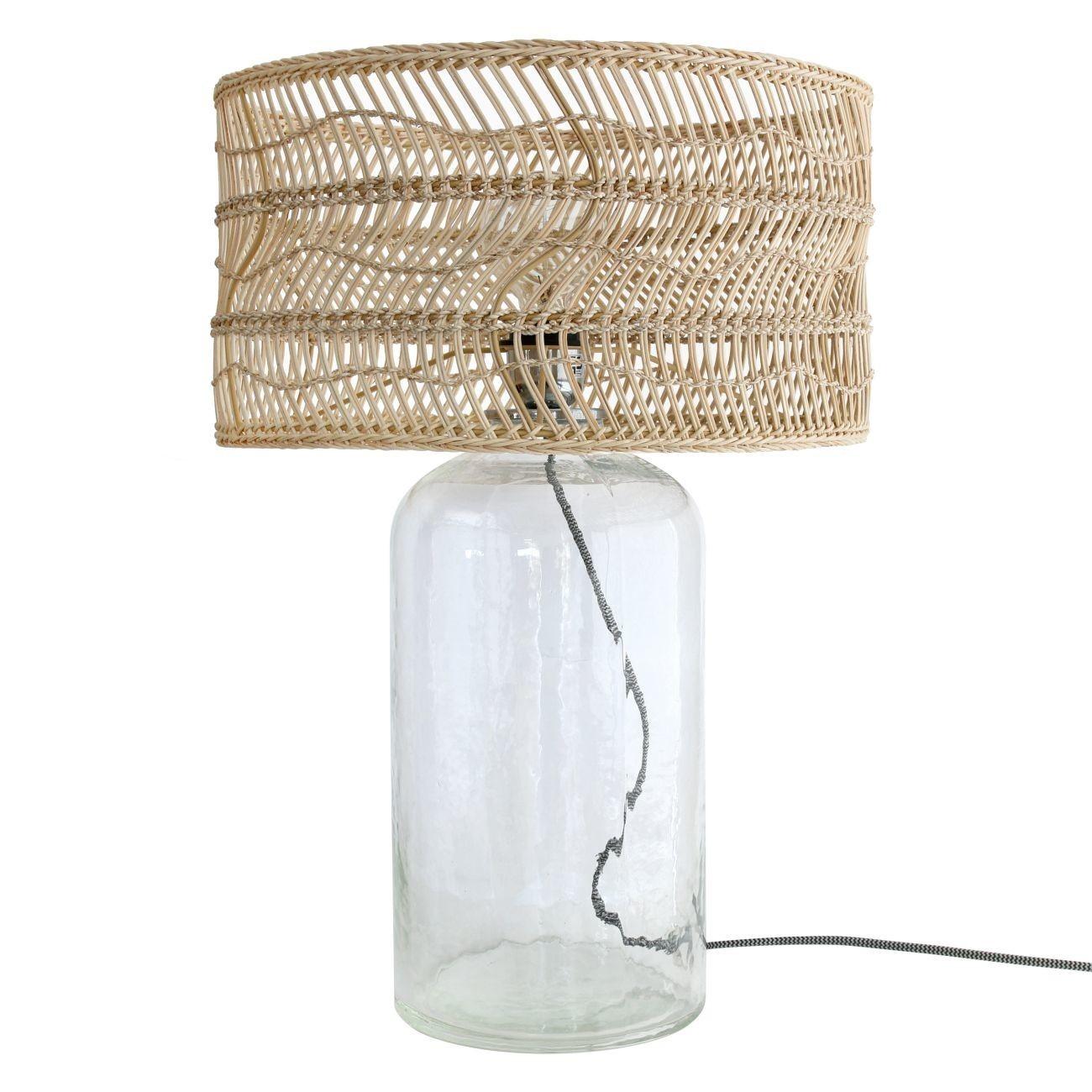 HK living Wicker bottle lamp Tischlampe