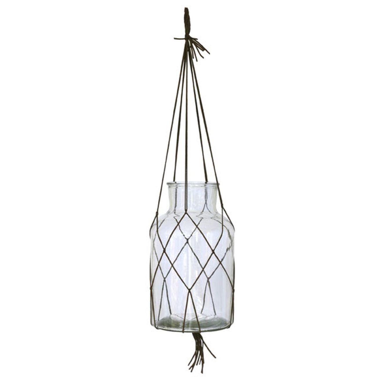 HK living hanging glass Vase hängend - L
