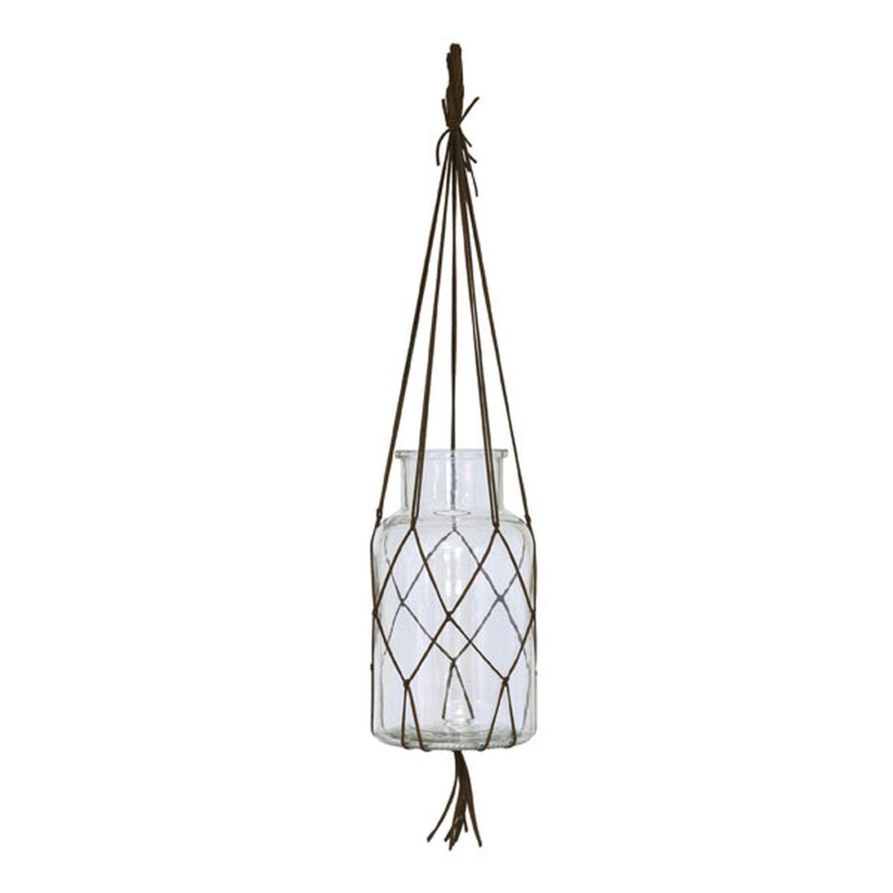 HK living hanging glass Vase hängend - M