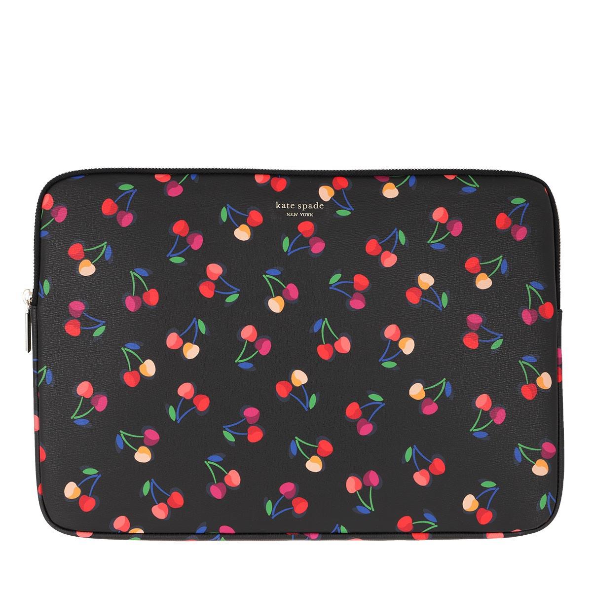 Kate Spade New York Laptoptasche - Cherries Universal Laptop Bag Black Multi - in schwarz - für Damen