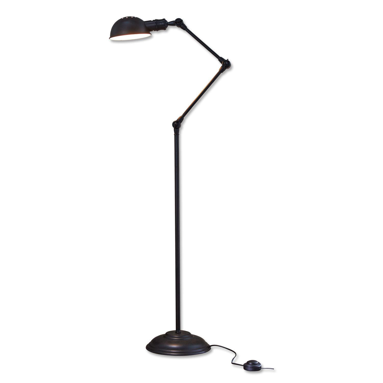 LOBERON Stehlampe Tulsa, antikschwarz (171cm)