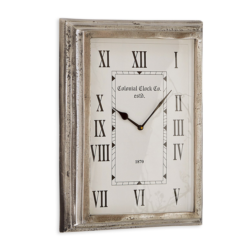 LOBERON Uhr Roman, antiksilber (7 x 32 x 44cm)