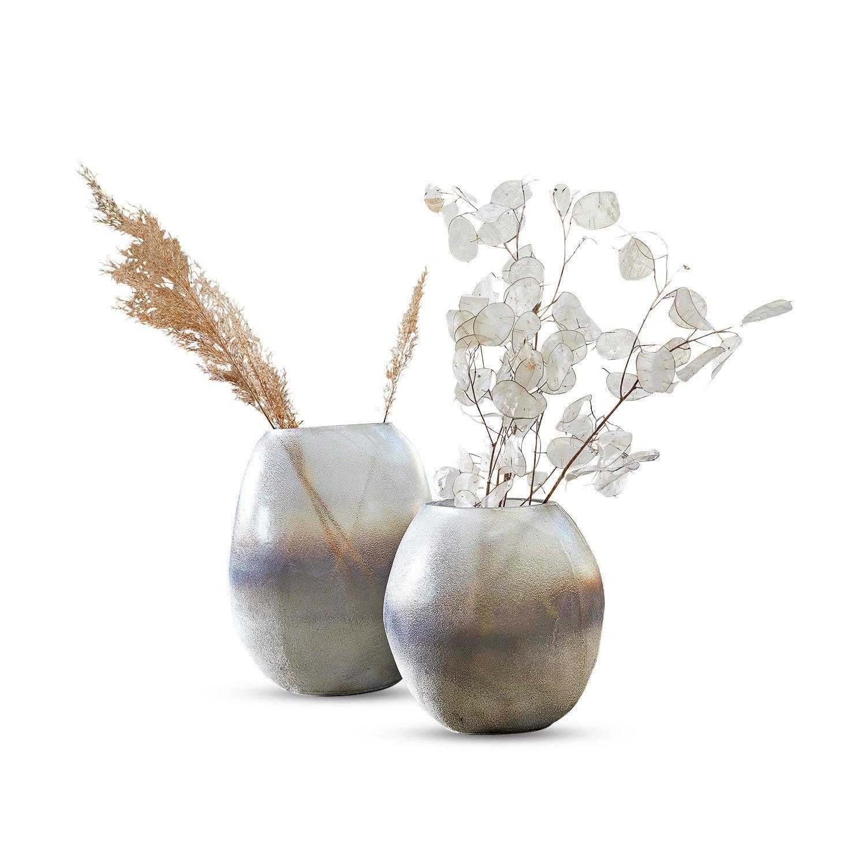LOBERON Vase 2er Set Rockest, grau