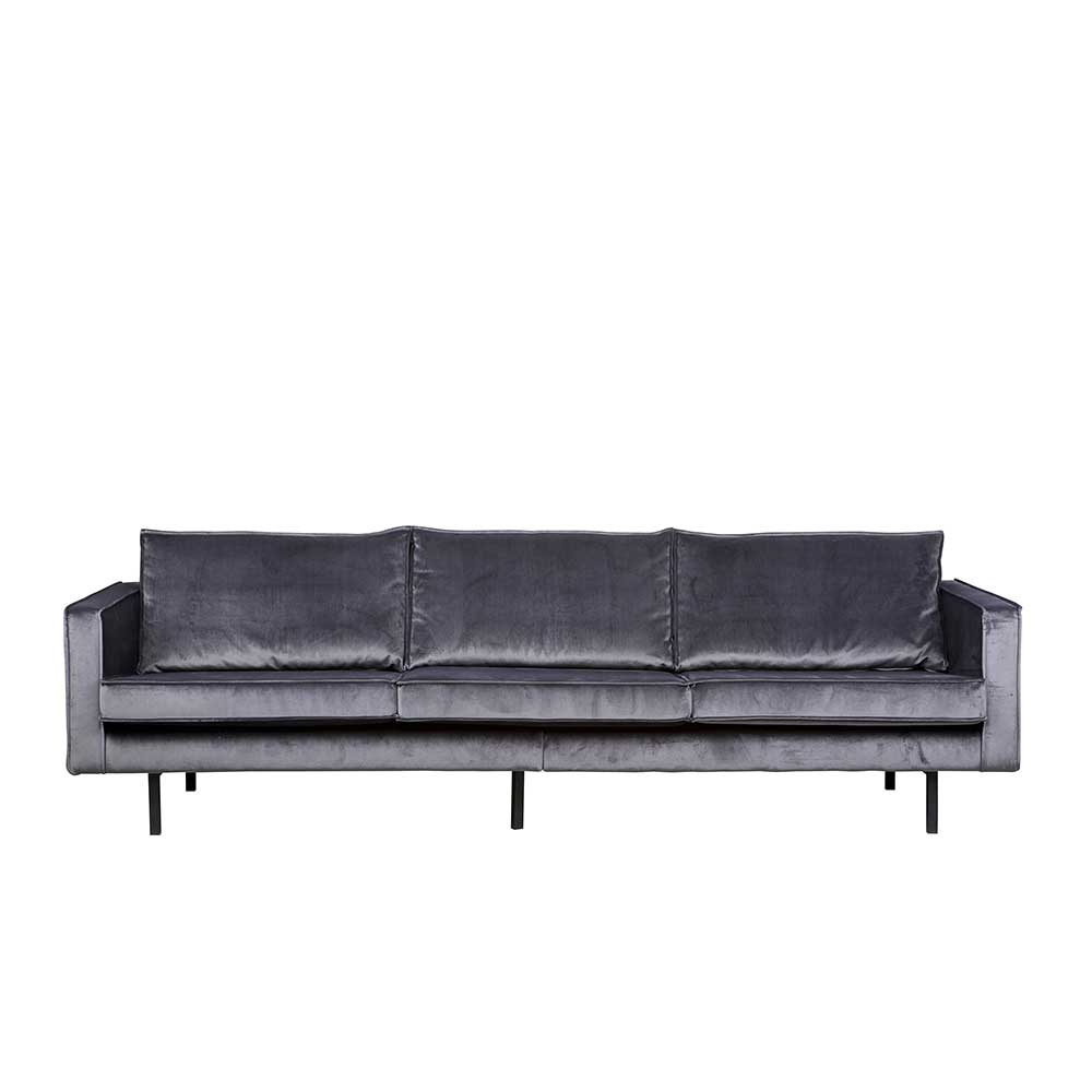 Lounge Couch in dunkel Grau Stoff