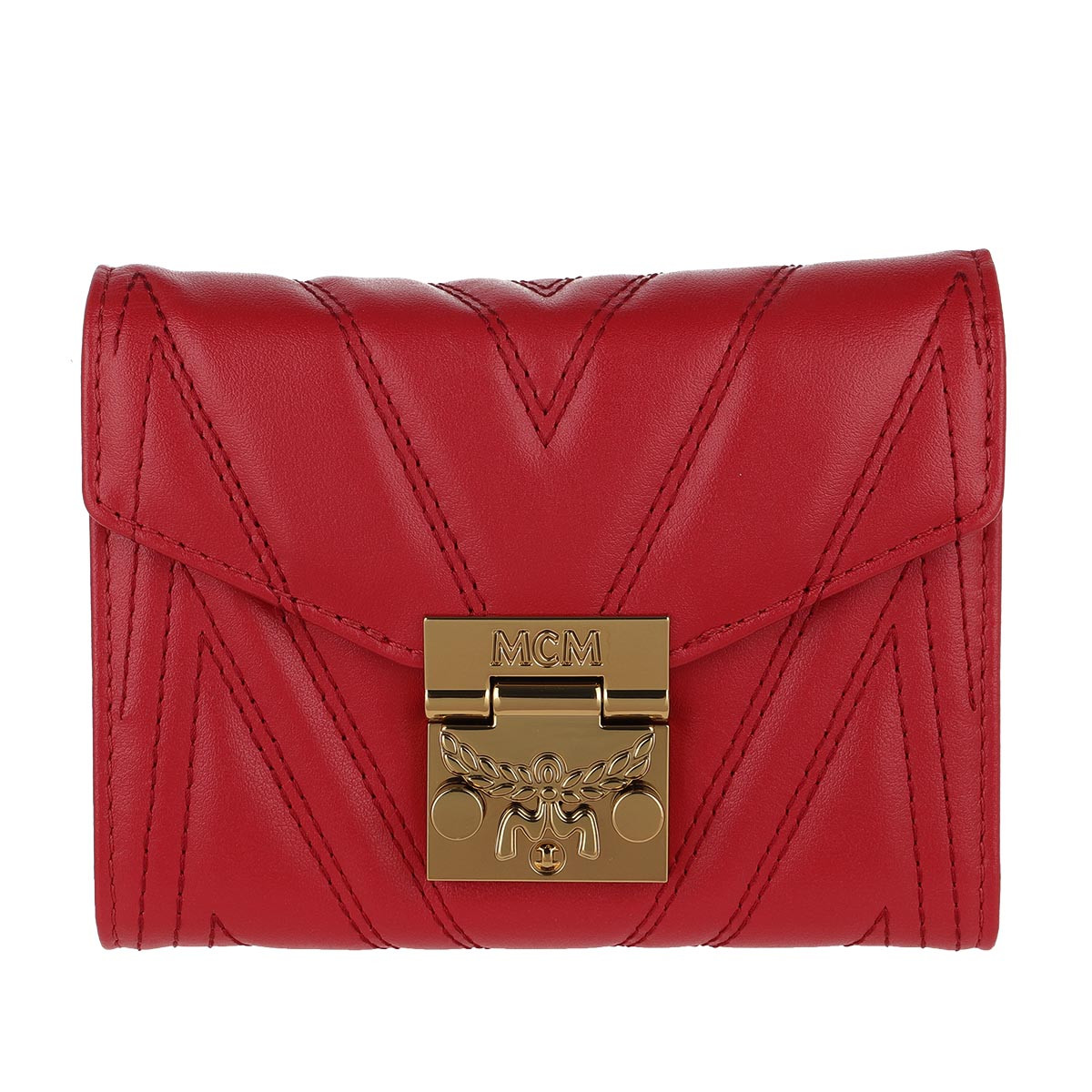 MCM Portemonnaie - Small Quilted Wallet Ruby Red - in rot - für Damen