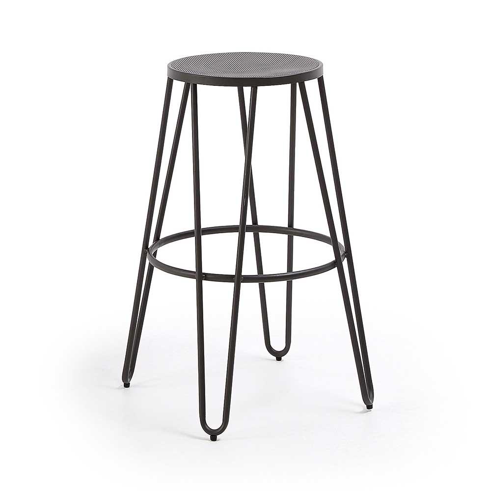 Runde Barhocker aus Stahl Industriedesign (4er Set)