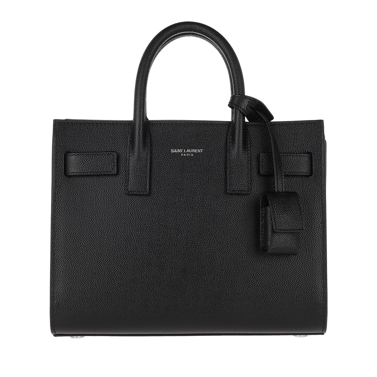 Saint Laurent Tote - Classic Sac De Jour Nano Leather Black - in schwarz - für Damen