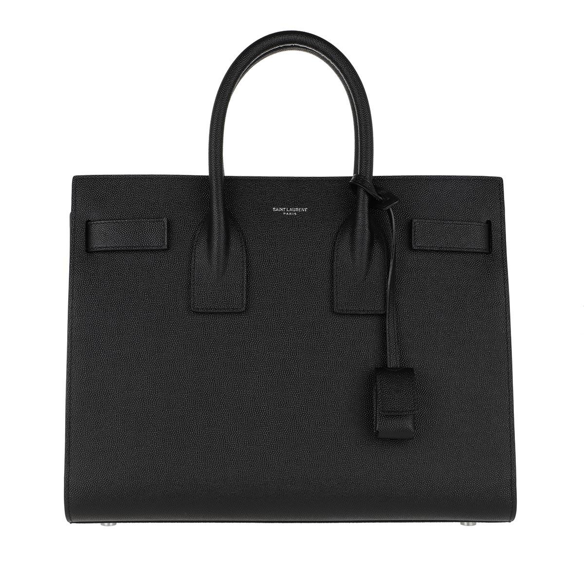 Saint Laurent Tote - Classic Sac De Jour Small Grain De Poudre Leather Black - in schwarz - für Damen