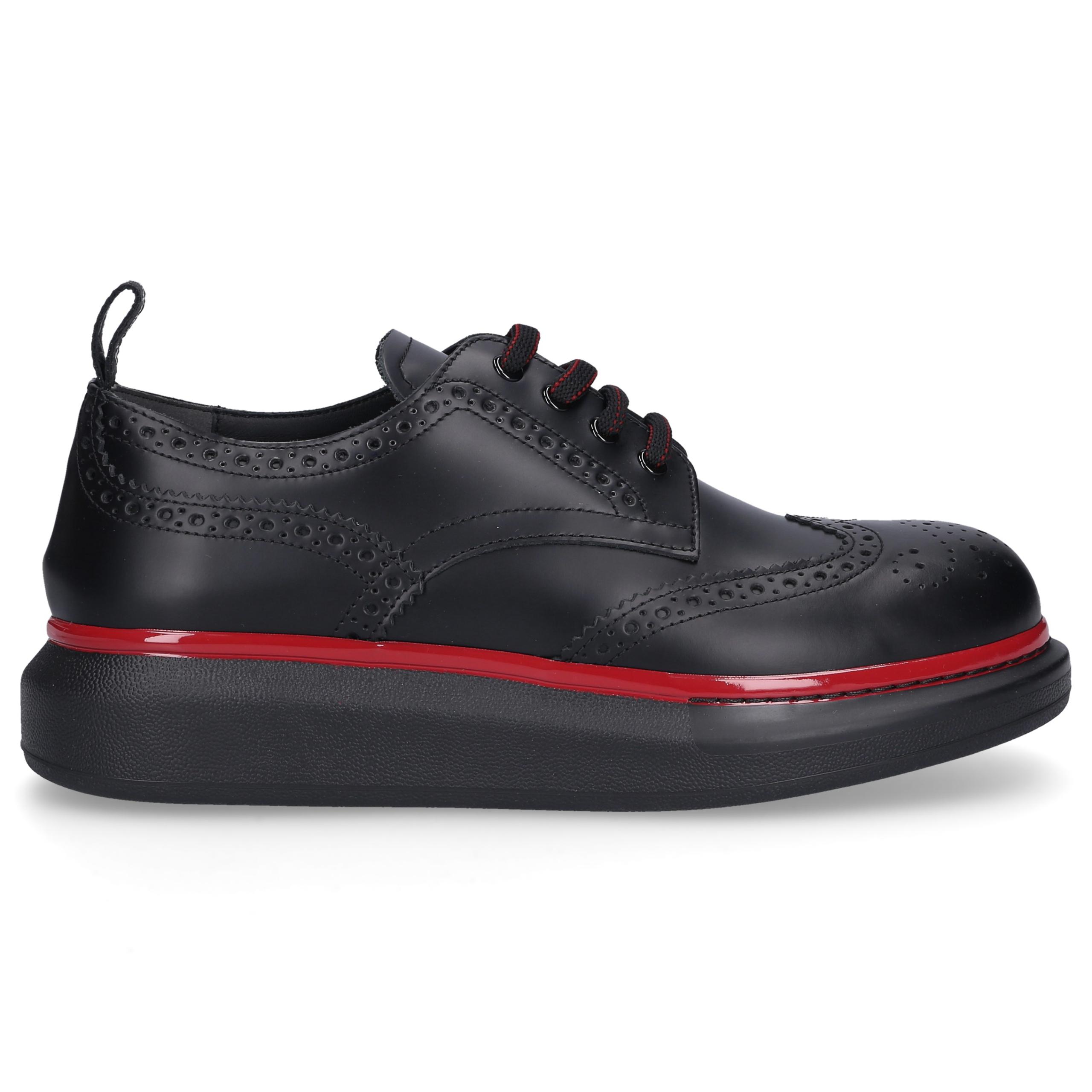 Sneaker low HYBRID Kalbsleder Logo schwarz-kombi