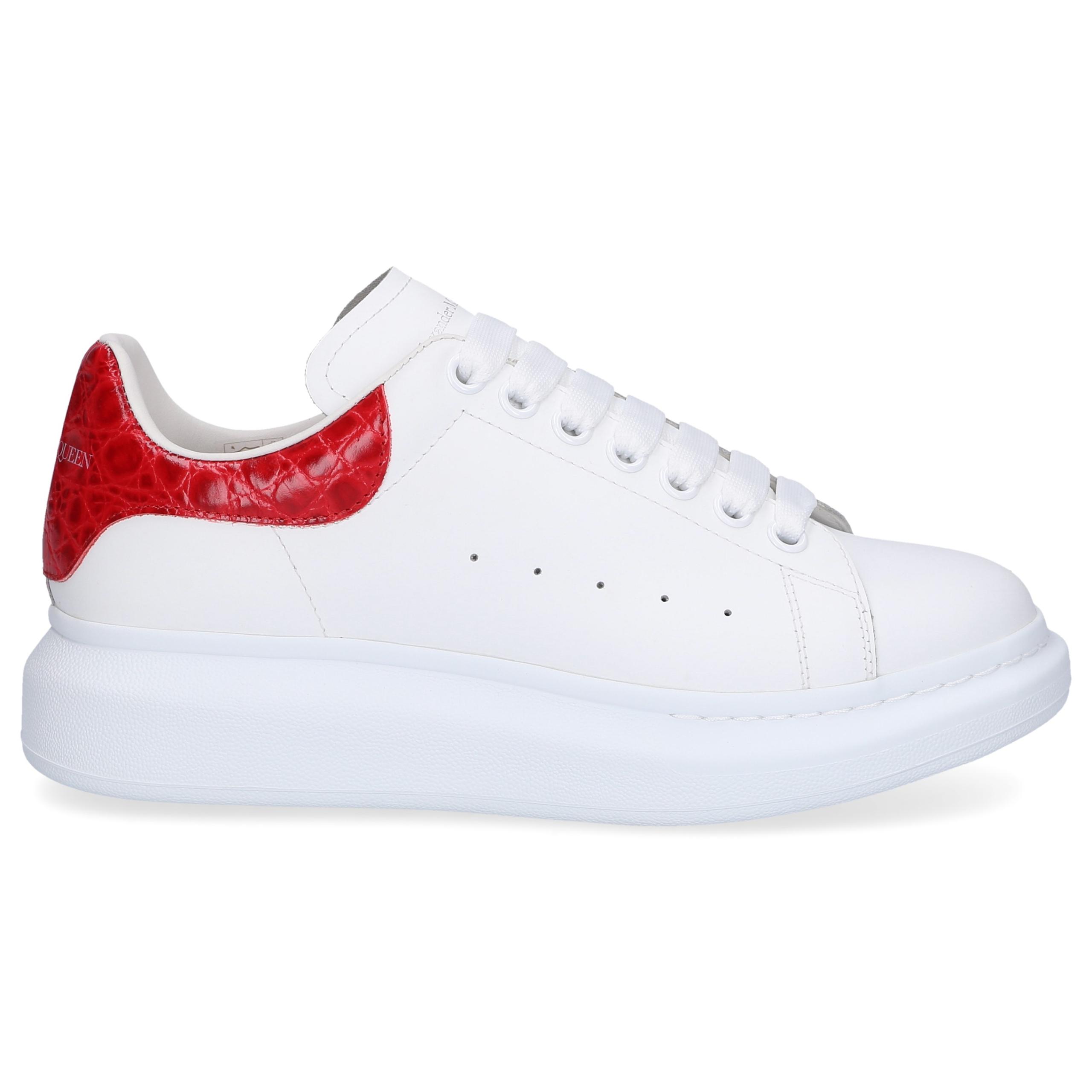 Sneaker low LARRY Kalbsleder Logo weiß rot