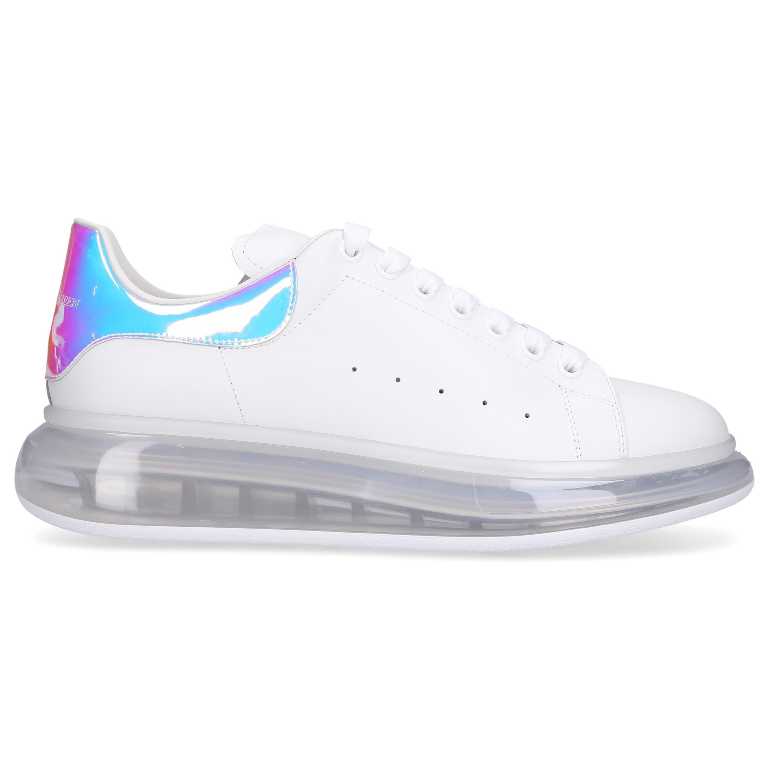Sneaker low LARRY Kalbsleder Logo weiß silber