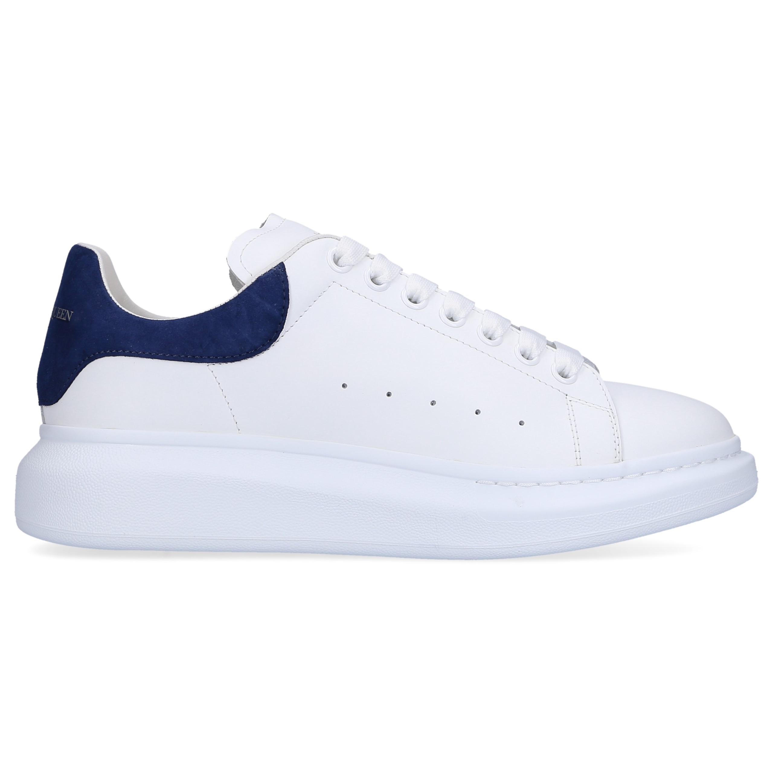 Sneaker low LARRY Kalbsleder blau weiß
