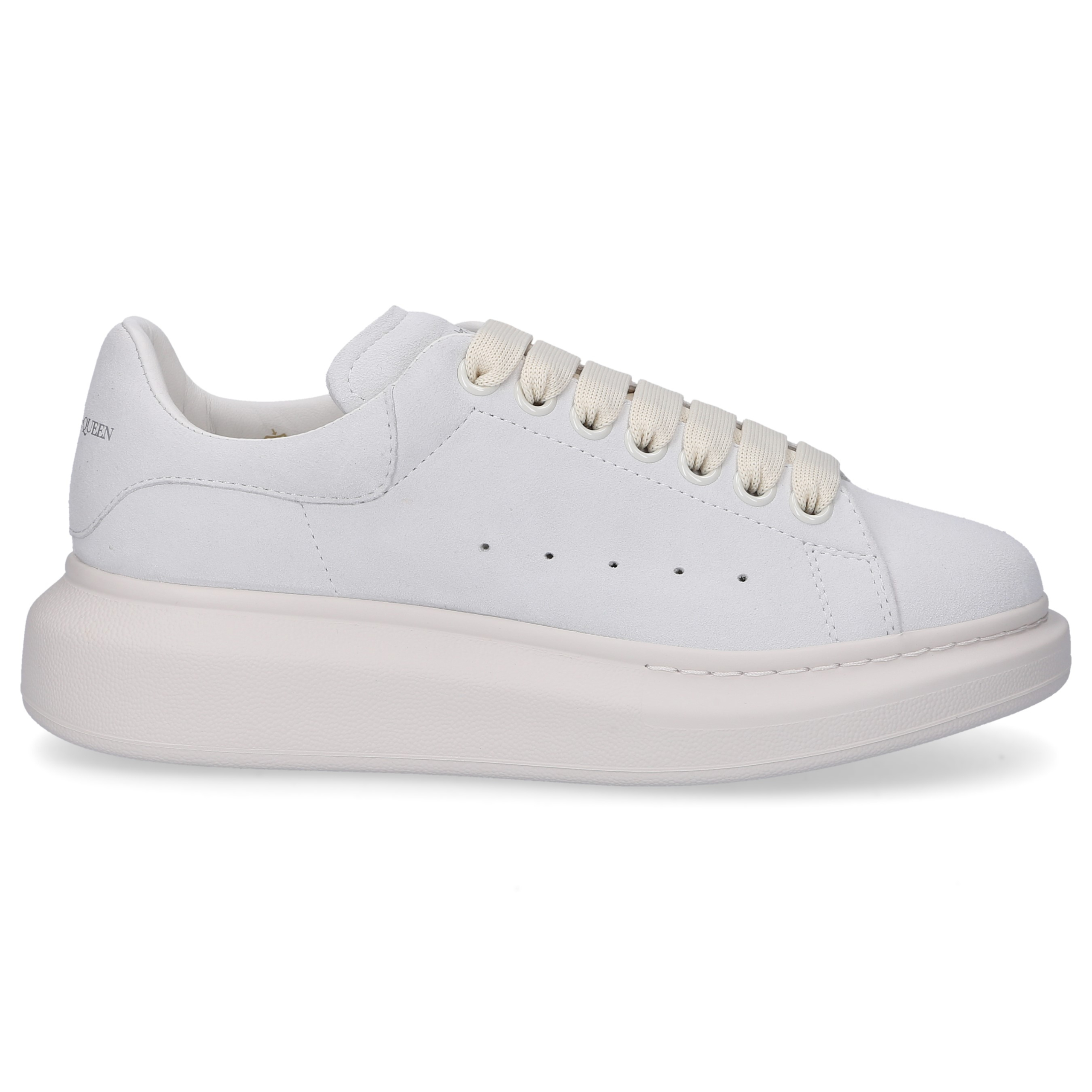 Sneaker low LARRY Veloursleder Logo hellgrau