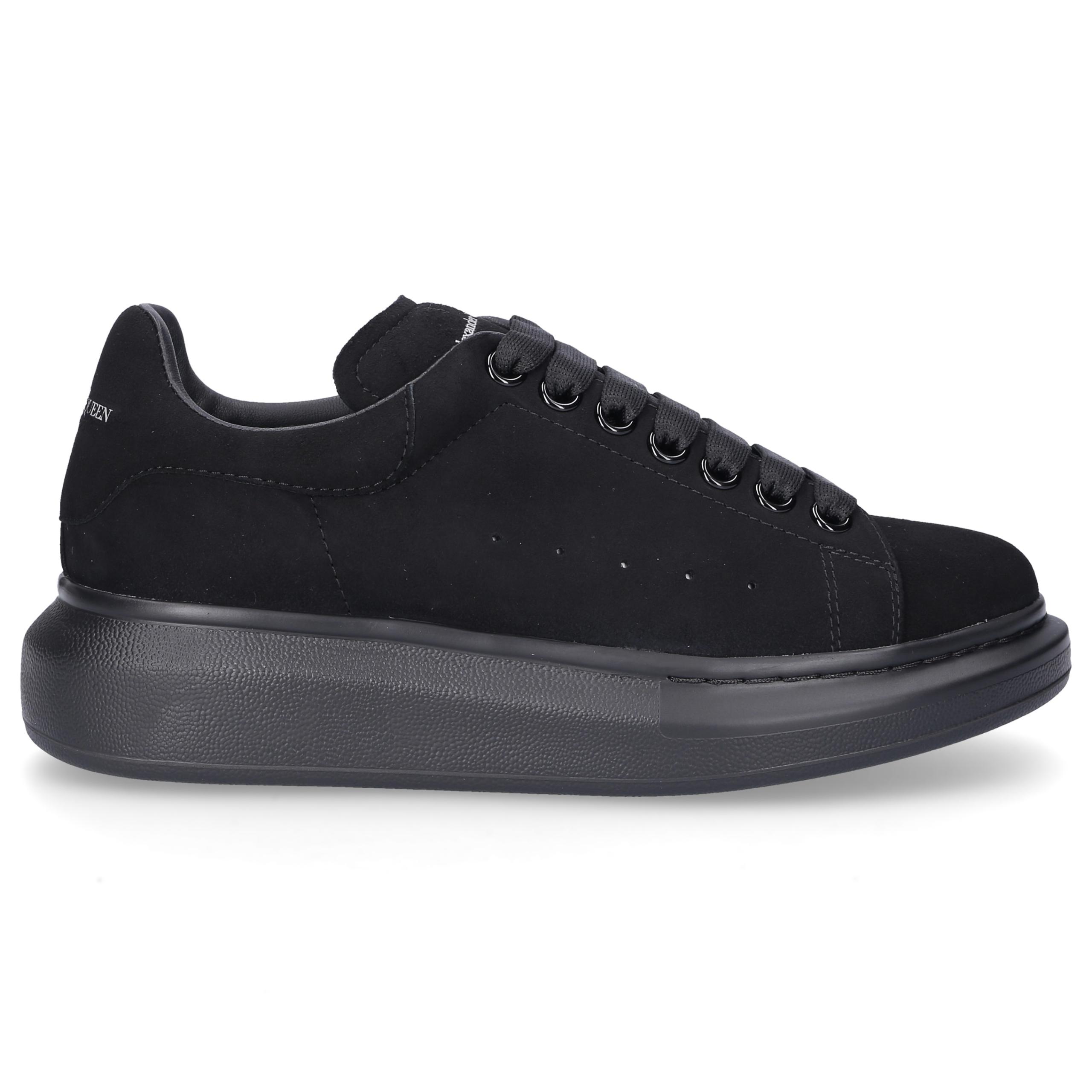 Sneaker low LARRY Veloursleder Logo schwarz