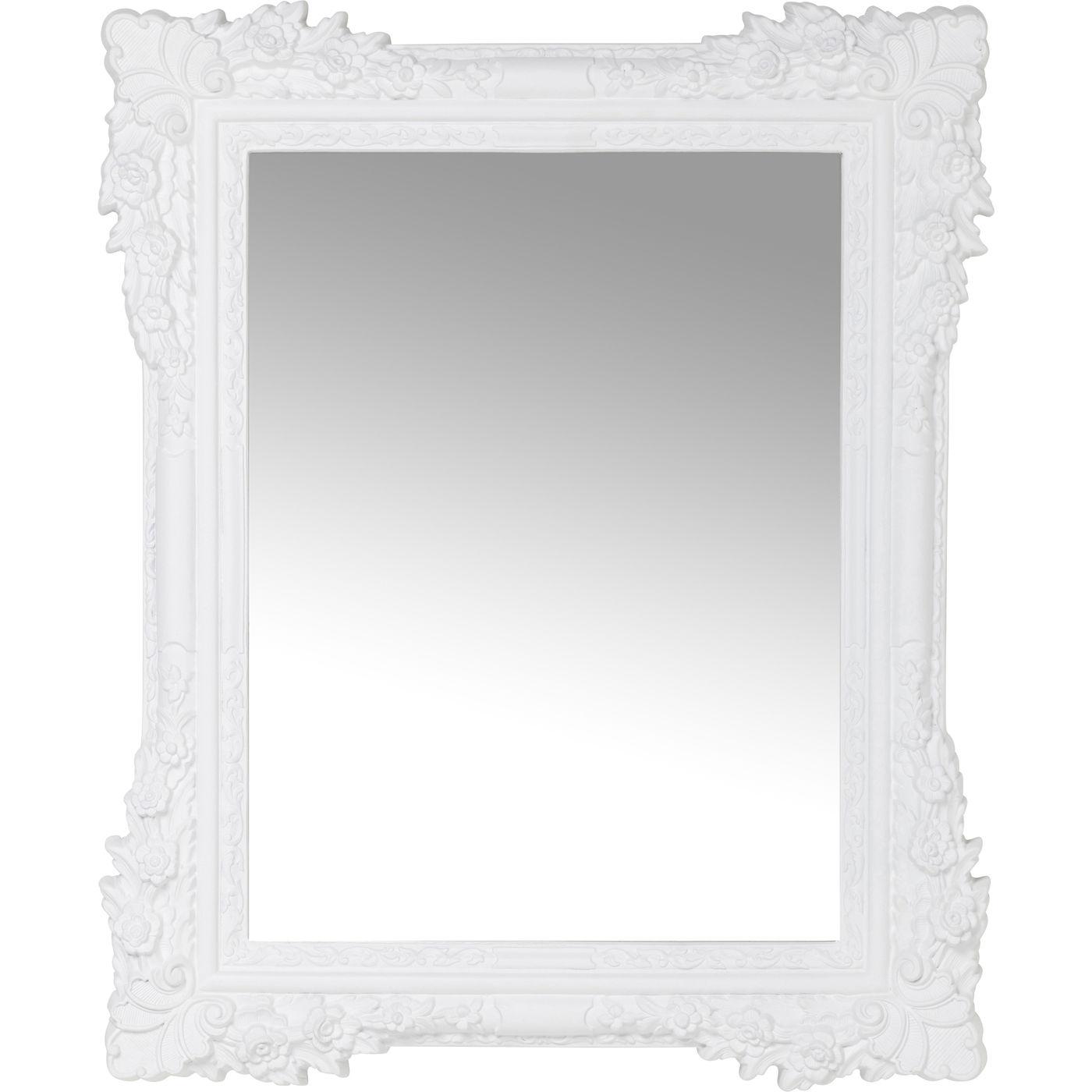 Spiegel Fiore Weiß 89x109