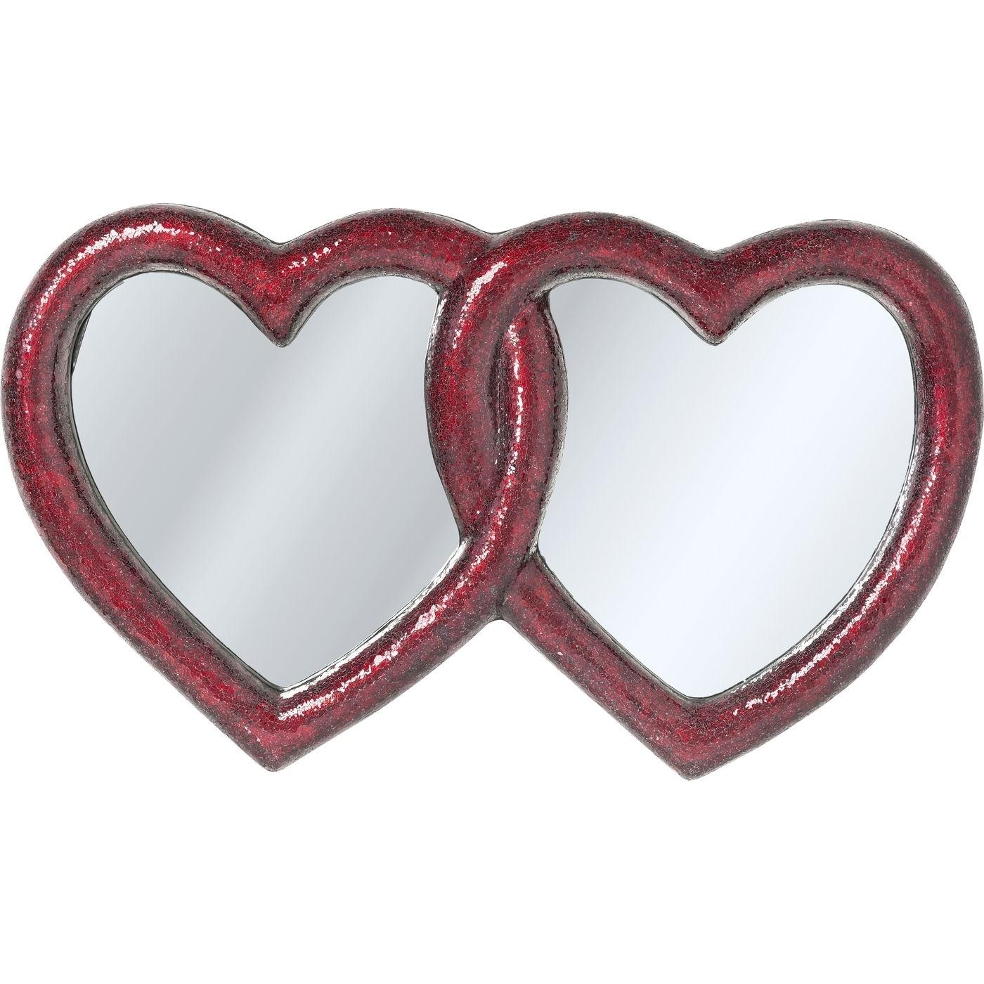 Spiegel Mosaik Double Heart 100x165cm