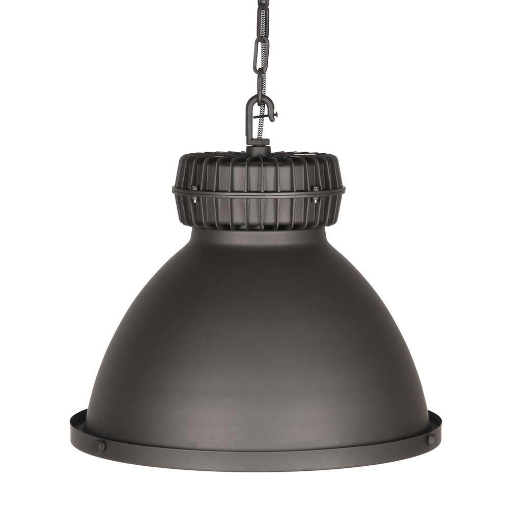 Stahl Deckenlampe in Grau 50 cm breit