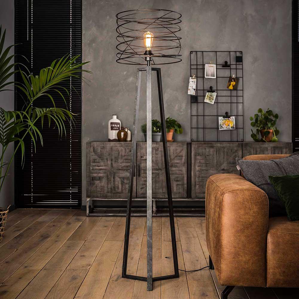 Stehlampe im Industry Design Anthrazit