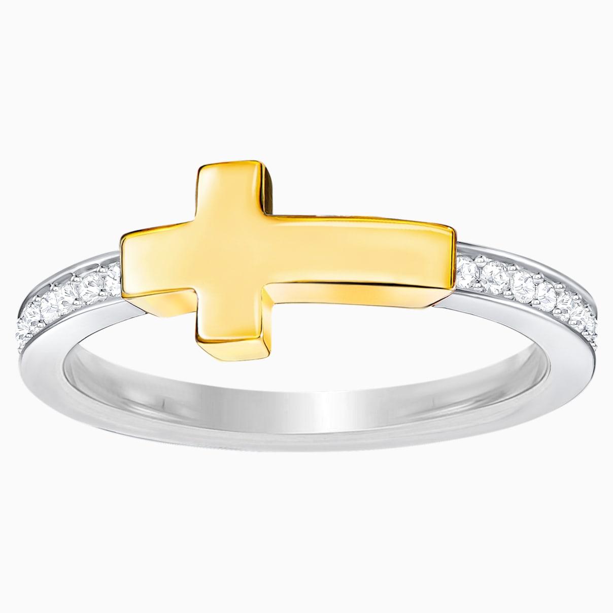 Swarovski Harvey Ring, White, Mixed plating