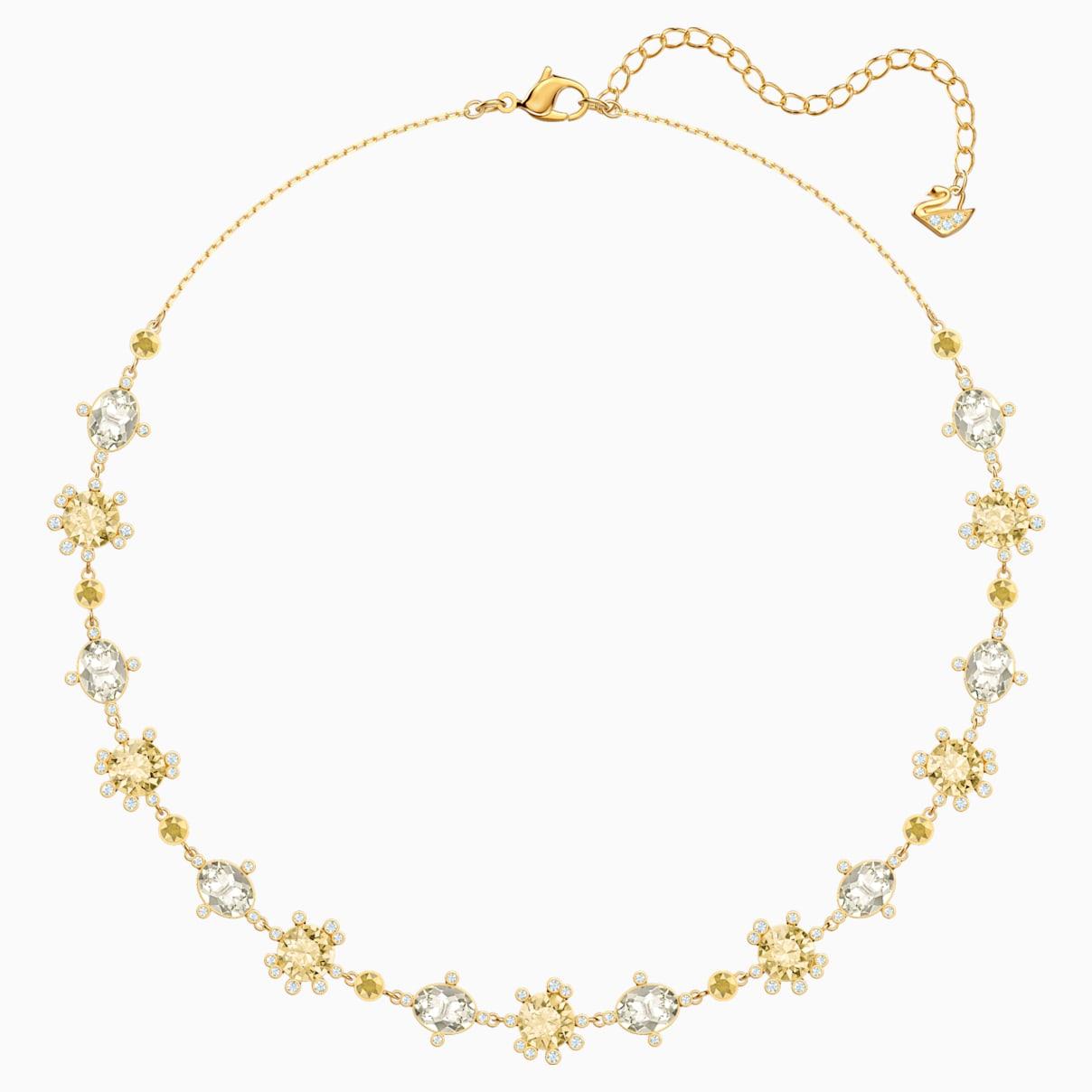 Swarovski Olive Necklace, Multi-colored, Gold-tone plated
