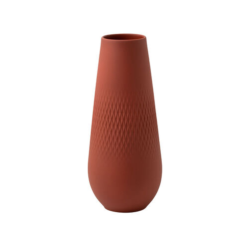 Villeroy & Boch Vase Carré hoch Manufacture Collier terre, rot, 115