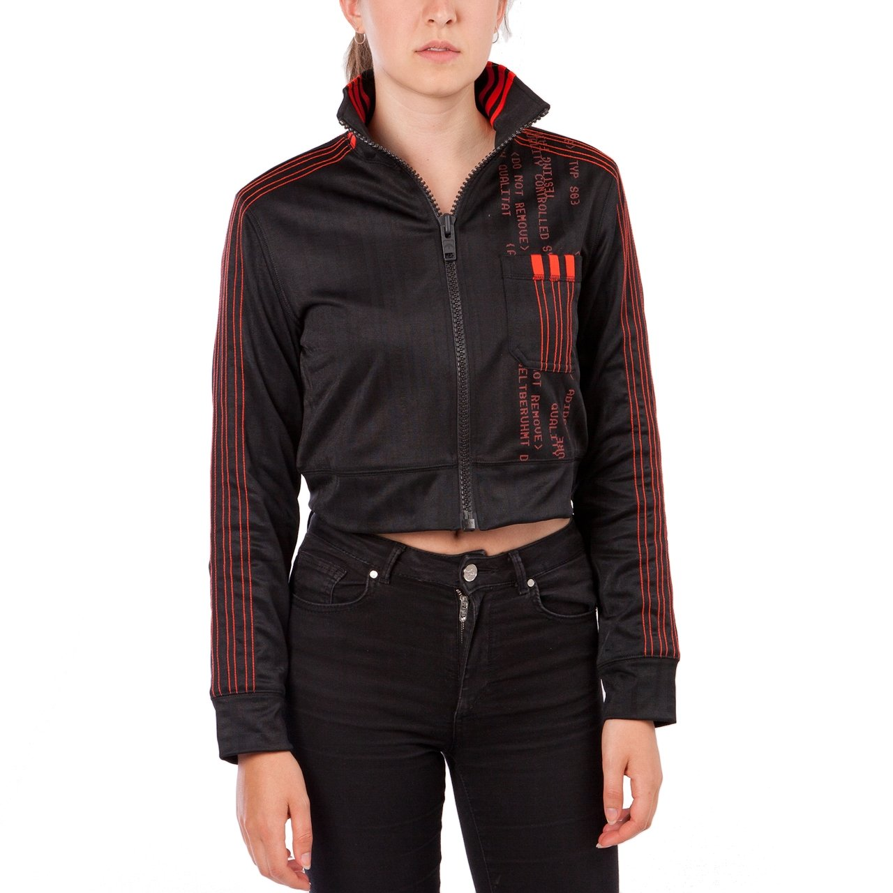 adidas by Alexander Wang AW Crop Track Top W (Schwarz / Rot)