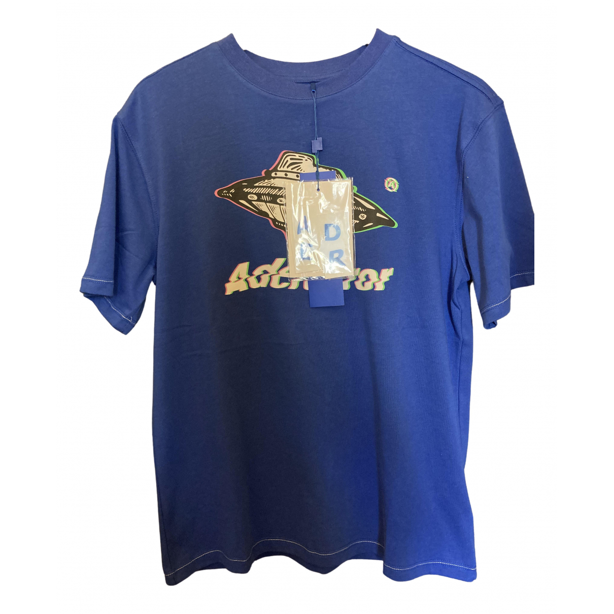 Ader Error N Blue Cotton T-shirts