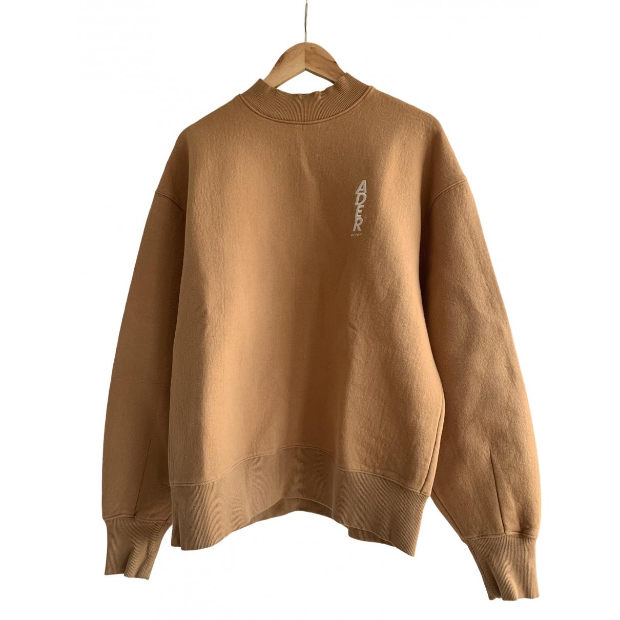 Ader Error N Camel Cotton Knitwear & Sweatshirts
