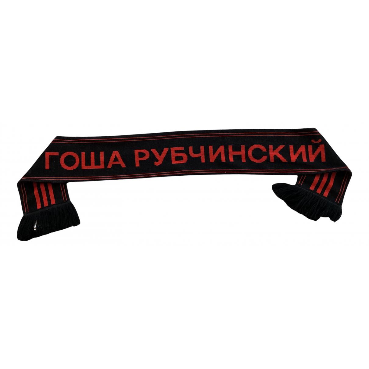 Adidas X Gosha Rubchinskiy N Black Cotton Scarves & pocket squares