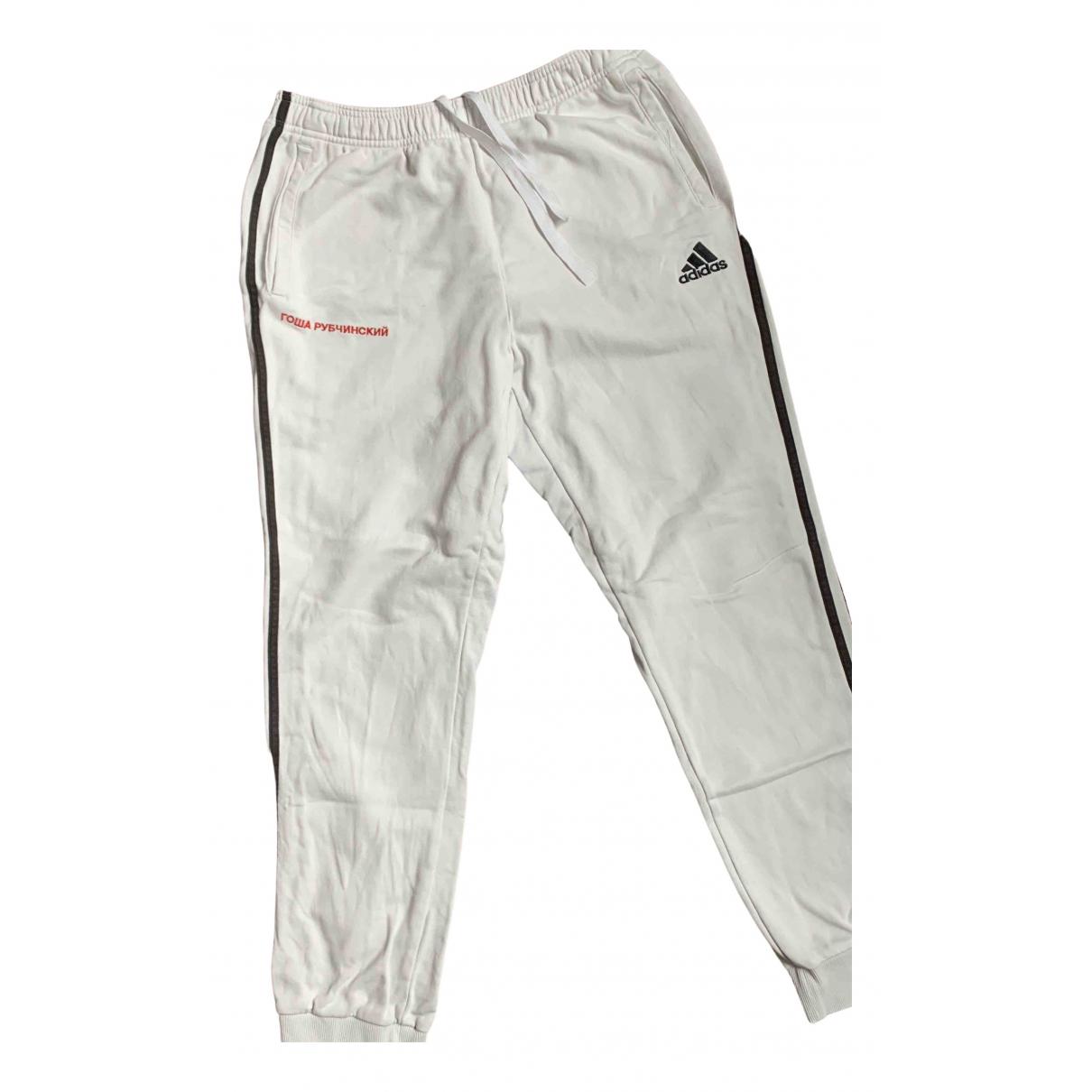 Adidas X Gosha Rubchinskiy N White Cotton Trousers for Men L International