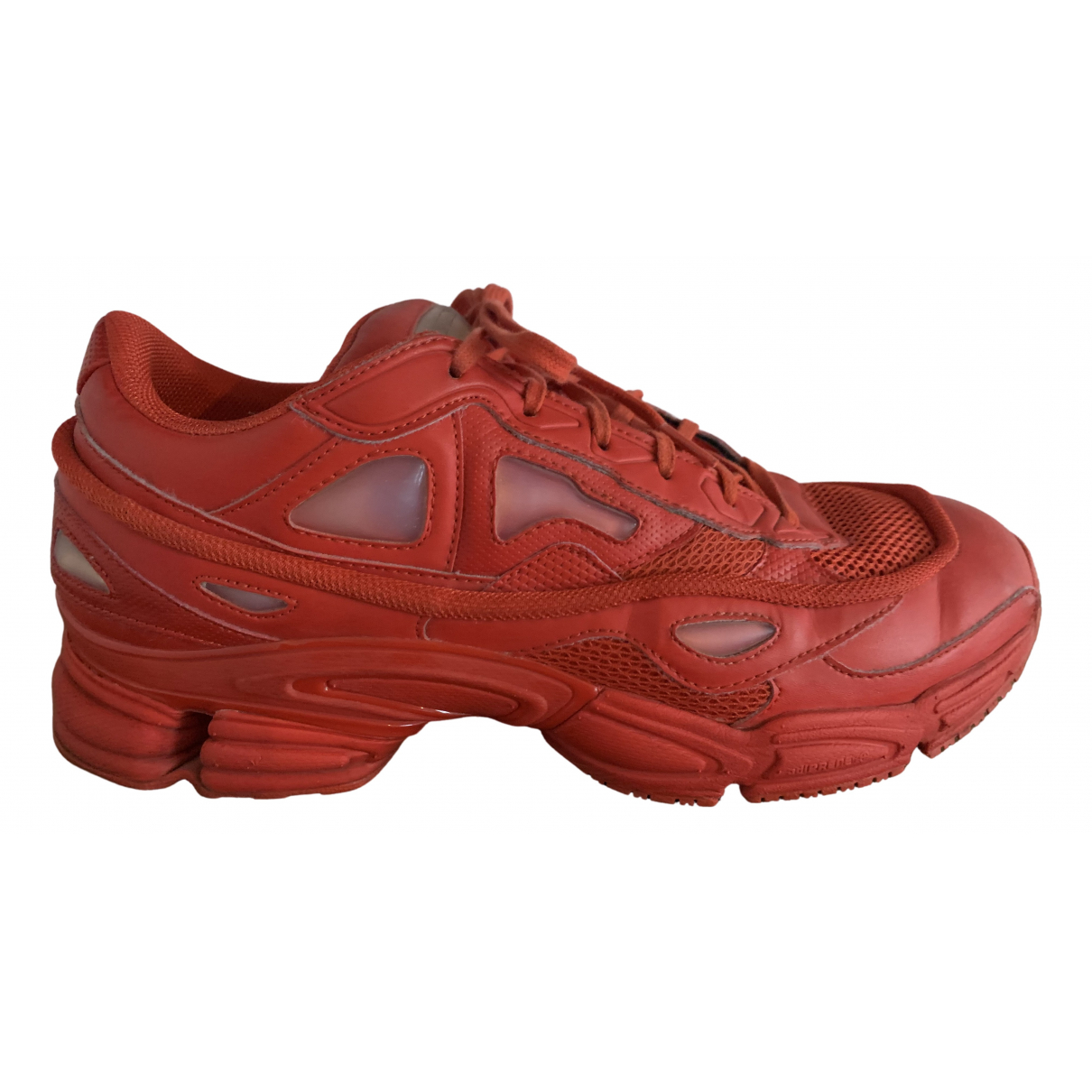 Adidas X Raf Simons Ozweego 2 Red Leather Trainers for Men 11 UK