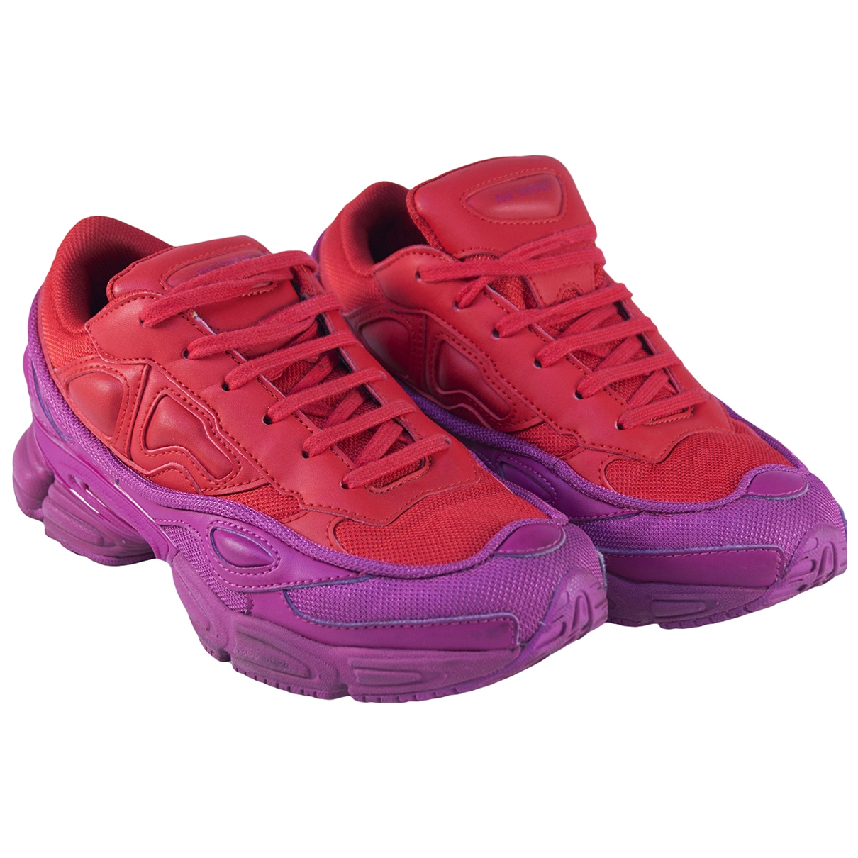 Adidas X Raf Simons Ozweego 2 Red Leather Trainers for Women 37.5 EU