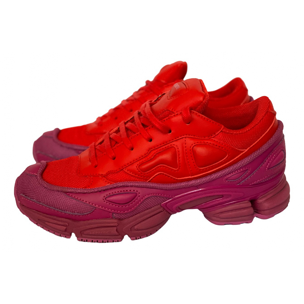 Adidas X Raf Simons Ozweego 2 Red Leather Trainers for Women 38 EU