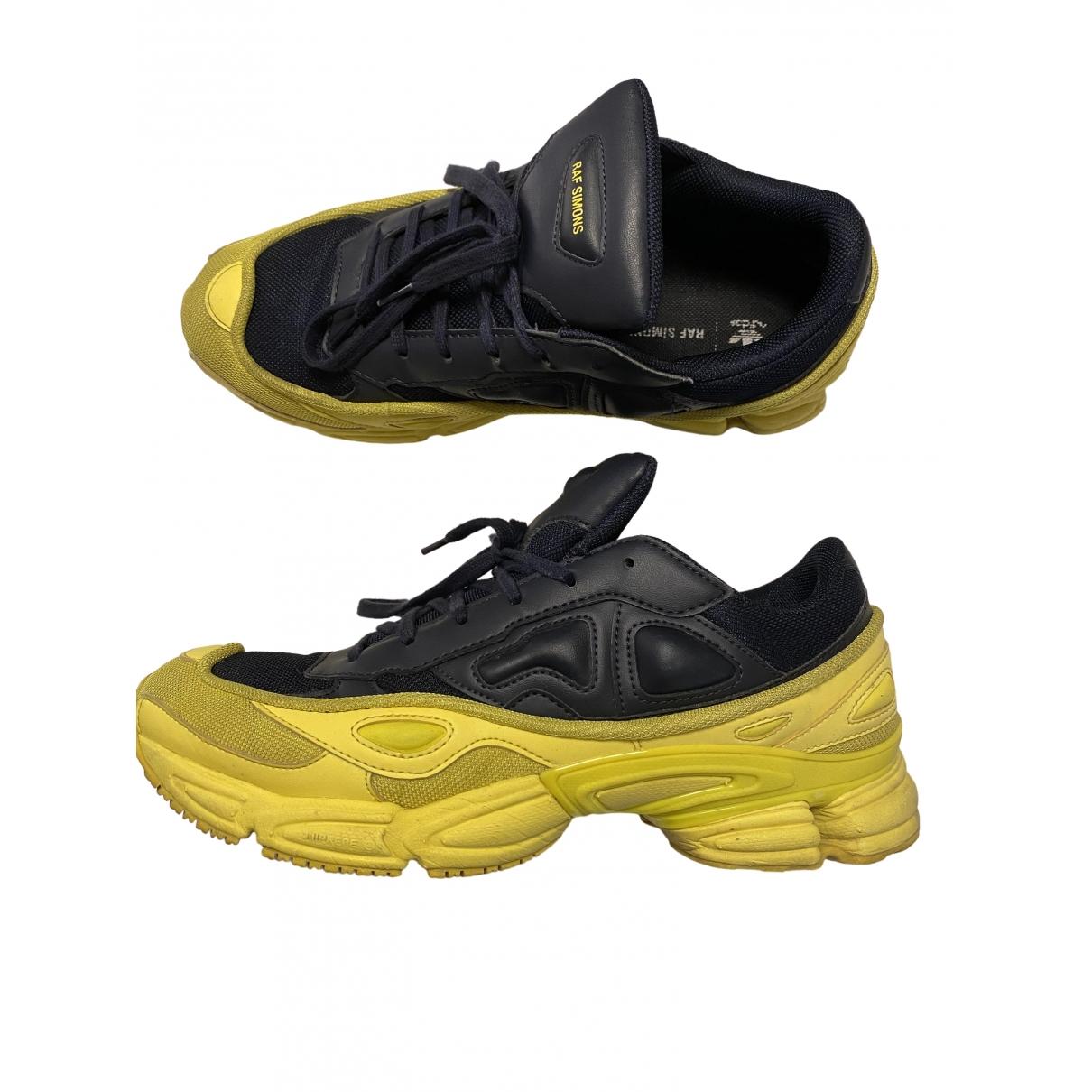 Adidas X Raf Simons Ozweego 2 Yellow Rubber Trainers for Men 10.5 UK