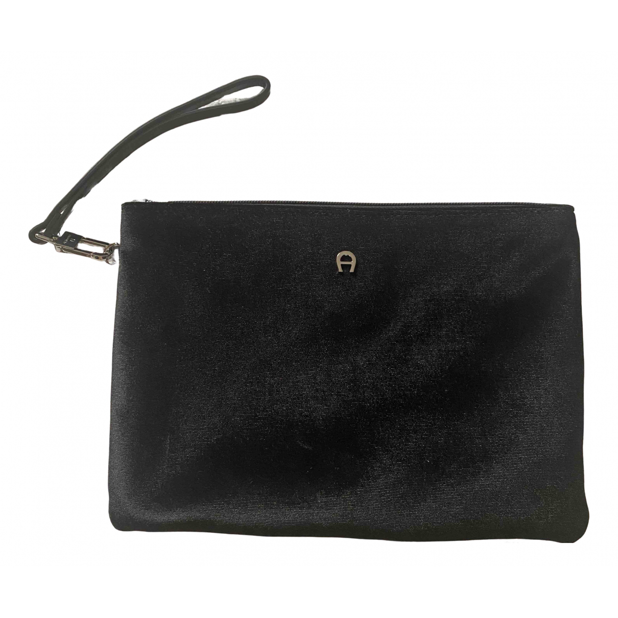 Aigner N Black Velvet Clutch bag for Women N
