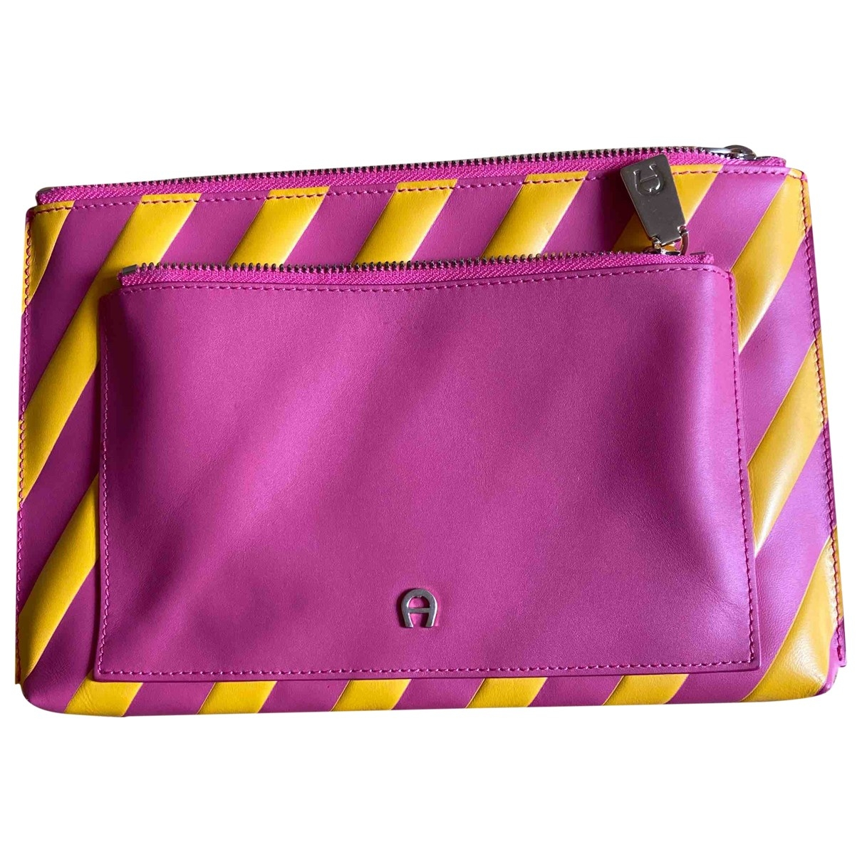 Aigner N Pink Leather Clutch bag for Women N