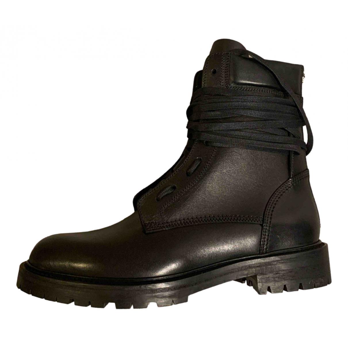 Amiri N Black Leather Boots for Men 41.5 EU