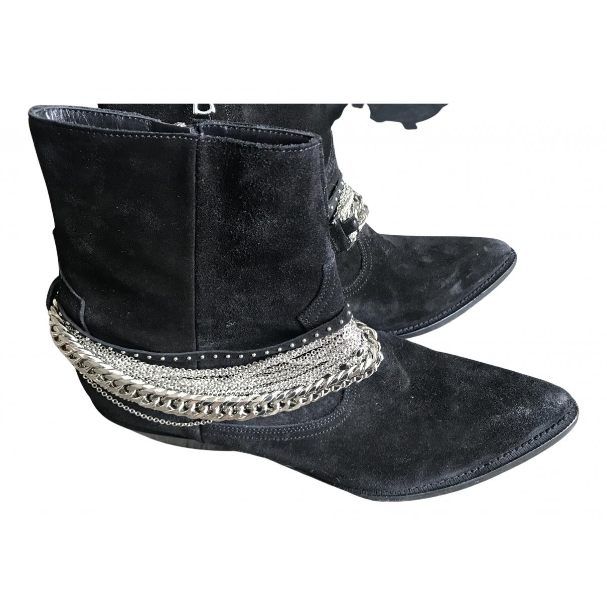 Amiri N Black Suede Boots for Men 45 EU