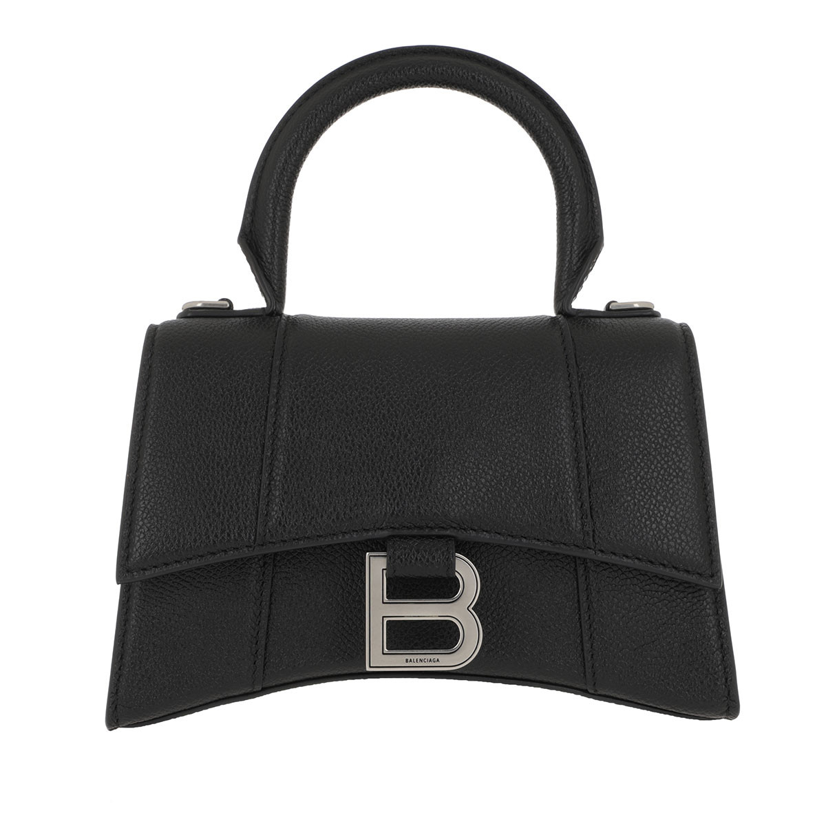 Balenciaga Satchel Bag - Hourglass Small Handle Bag Black - in schwarz - für Damen