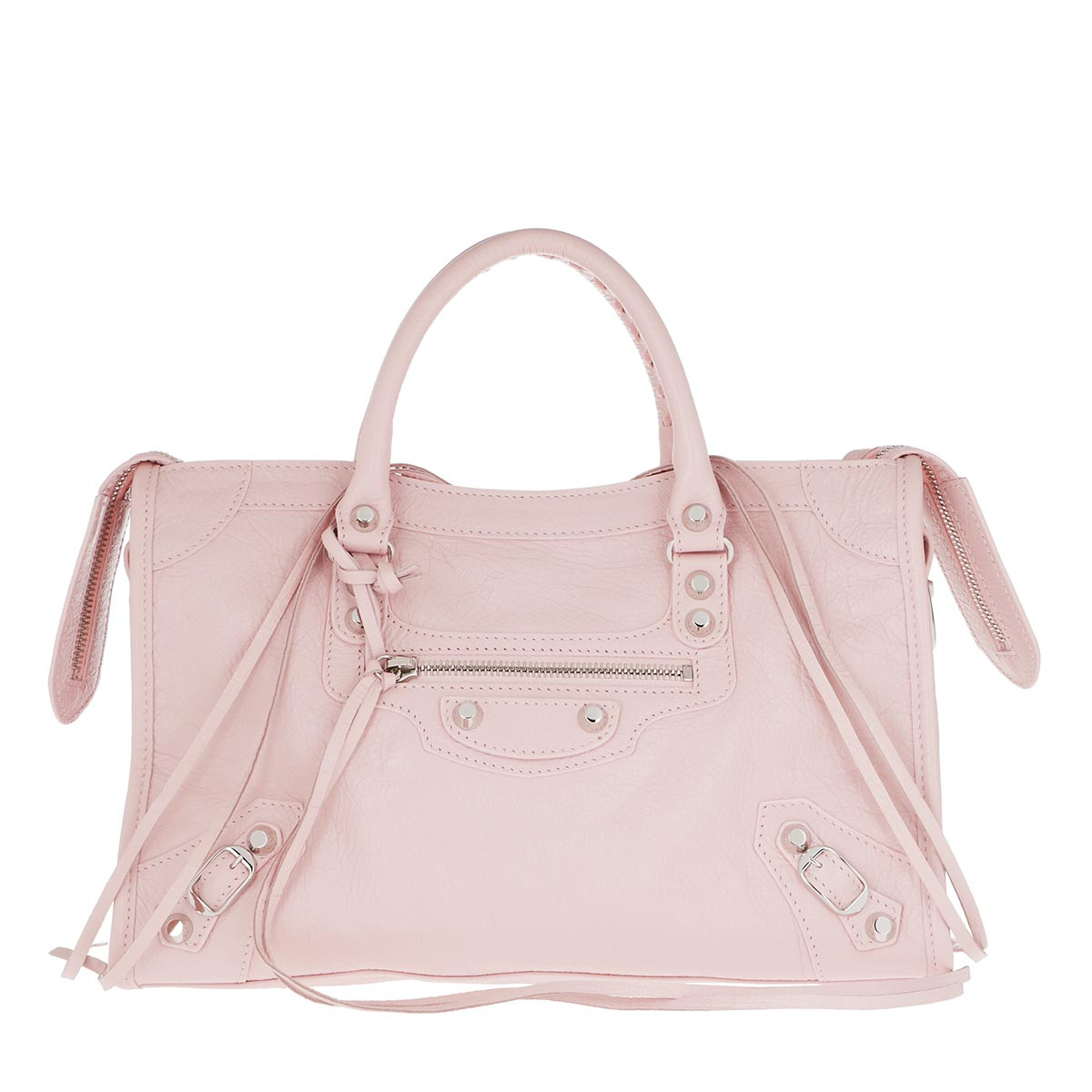 Balenciaga Tote - City Tote Tassel Studded Leather Light Rose - in rosa - für Damen